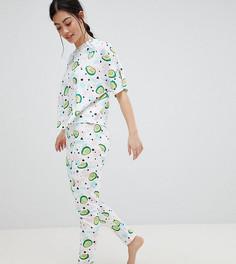 Пижама с футболкой и леггинсами ASOS DESIGN Petite - Мульти