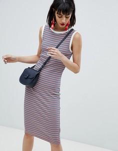 Трикотажное платье в полоску без рукавов Esprit - Мульти