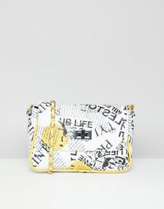 Стеганая сумка через плечо ASOS DESIGN - Белый