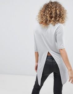 Туника с разрезом на спине Noisy May - Серый
