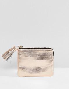 Кожаный кошелек для монет с кисточкой ASOS DESIGN - Медный