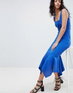Платье миди с юбкой годе Elliatt - Синий