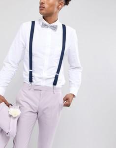 Подарочный набор с галстуком-бабочкой и подтяжками ASOS DESIGN Wedding - Белый