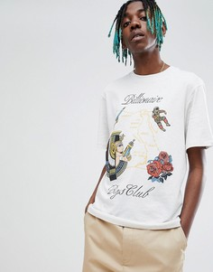 Белая футболка с принтом карты Billionaire Boys Club - Белый