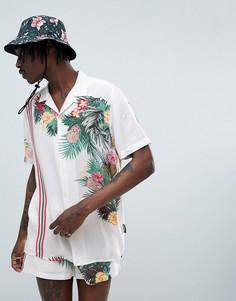 Рубашка с полосками и цветочным принтом Jaded London - Белый