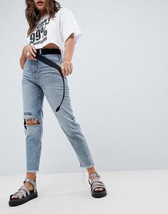 Джинсы в винтажном стиле Cheap Monday - Синий