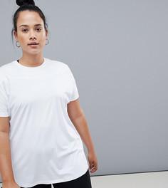 Свободная спортивная футболка ASOS 4505 Curve - Белый