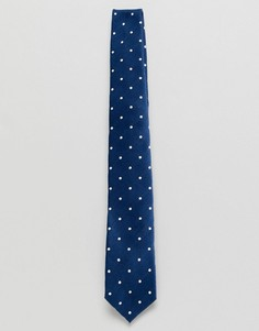 Темно-синий галстук в горошек Jack & Jones - Темно-синий