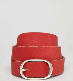 Красный длинный кожаный ремень Retro Luxe London - Красный