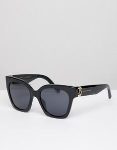 Черные квадратные солнцезащитные очки в стиле 182-х Marc Jacobs - Черный