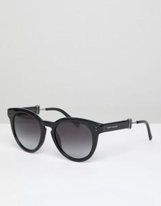 Черные солнцезащитные очки в круглой оправе в стиле 129-х Marc Jacobs - Черный