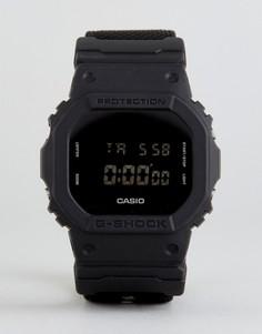Часы с черным парусиновым ремешком G-Shock DW-5600BBN-1ER - Черный