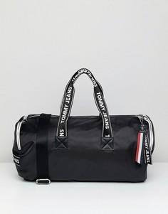 Спортивная сумка с логотипом на ручках Tommy Jeans - Черный