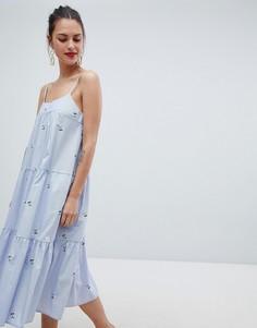 Платье на бретельках Closet London - Розовый