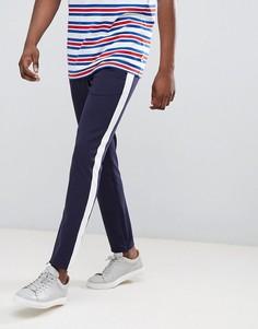 Спортивные облегающие брюки Jack & Jones - Темно-синий