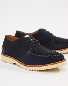 Замшевые туфли на шнуровке и массивной подошве Farah Ronnie - Темно-синий
