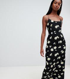 Платье макси с лямками на спине и цветочным принтом ASOS DESIGN Tall - Мульти