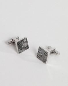 Серебристые запонки с логотипом Emporio Armani - Серебряный