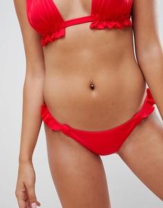 Красные бразильские плавки бикини ASOS DESIGN - Красный