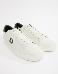 Белые кожаные кроссовки с логотипом контрастного цвета Fred Perry Spencer - Белый
