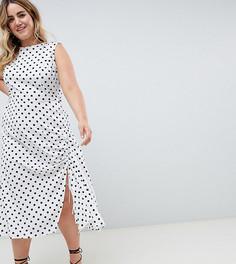 Платье макси в горошек без рукавов ASOS DESIGN Curve - Мульти