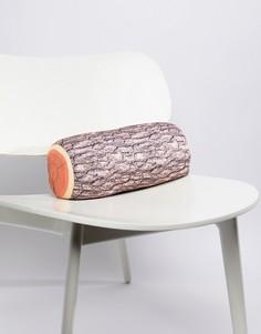 Подушка с дизайном в виде бревна Kikkerland - Мульти