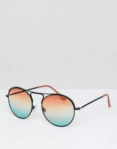 Круглые солнцезащитные очки с градиентными стеклами Jeepers Peepers - Красный