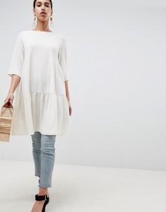 Ярусное платье Selected Femme - Кремовый