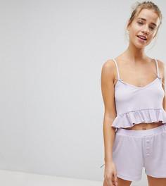 Пижамный комплект с шортами Hey Peachy - Фиолетовый