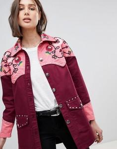 Куртка в стиле вестерн с вышивкой ASOS DESIGN - Красный