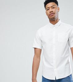 Базовая оксфордская рубашка с короткими рукавами D-Struct TALL - Белый