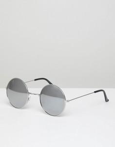 Круглые солнцезащитные очки 7X Classic - Серебряный