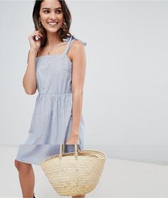 Платье в полоску с завязками на рукавах Vila - Синий