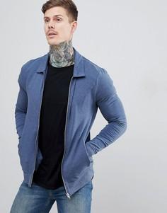 Джинсовая куртка Харрингтон ASOS DESIGN - Темно-синий