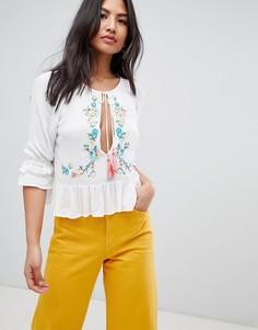 Блузка с вышивкой Raga - Белый