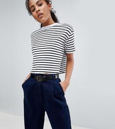 Укороченная футболка в рубчик с полосками ASOS DESIGN Tall - Мульти