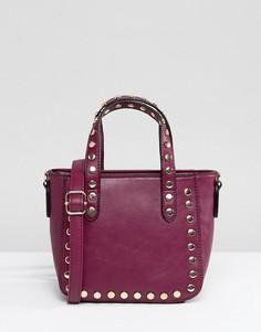 Маленькая сумка-тоут с заклепками Yoki Fashion - Красный
