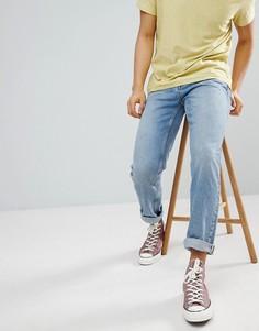 Голубые джинсы стандартного кроя River Island - Синий