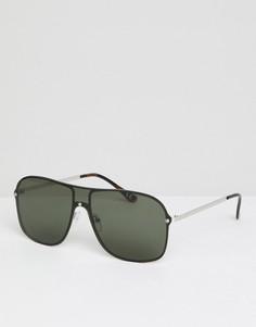 Солнцезащитные очки-авиаторы ASOS DESIGN - Серебряный