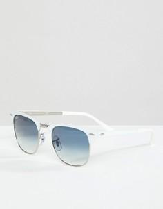 Белые солнцезащитные очки-клабмастеры Ray-Ban - Белый