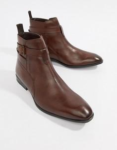 Коричневые кожаные ботинки челси ASOS DESIGN - Коричневый