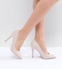 Остроносые туфли на высоком каблуке QUPID - Бежевый