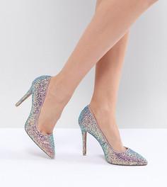 Остроносые туфли на высоком каблуке QUPID - Мульти