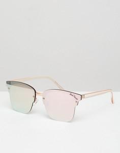 Солнцезащитные очки с зеркальными стеклами Black Phoenix - Золотой
