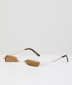 Квадратные золотистые солнцезащитные очки AJ Morgan - Золотой
