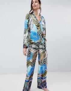 Пижама с тропическим принтом ASOS DESIGN - Мульти