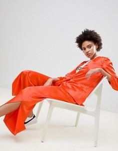Широкие брюки с разрезами по бокам Moss Copenhagen - Оранжевый
