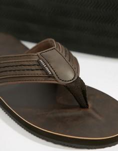 Кожаные сандалии Jack & Jones - Коричневый