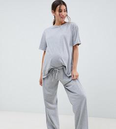 Пижамная футболка ASOS DESIGN Maternity Mix & Match - Серый