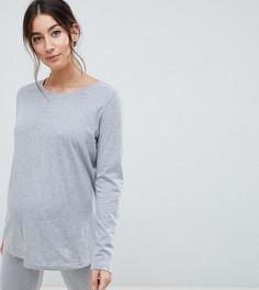 Комбинируемая пижамная футболка с длинными рукавами ASOS DESIGN Maternity - Серый